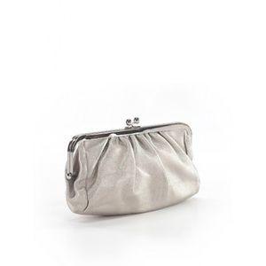 Express silver clutch purse